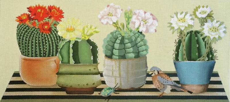 Melissa Shirley Cactus Table Needlepoint Workshop