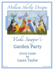 Vicki Sawyer Garden Party Needlepoint Class Stitch Guide