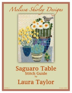 Melissa Shirley Needlepoint Canvas Saguaro Table